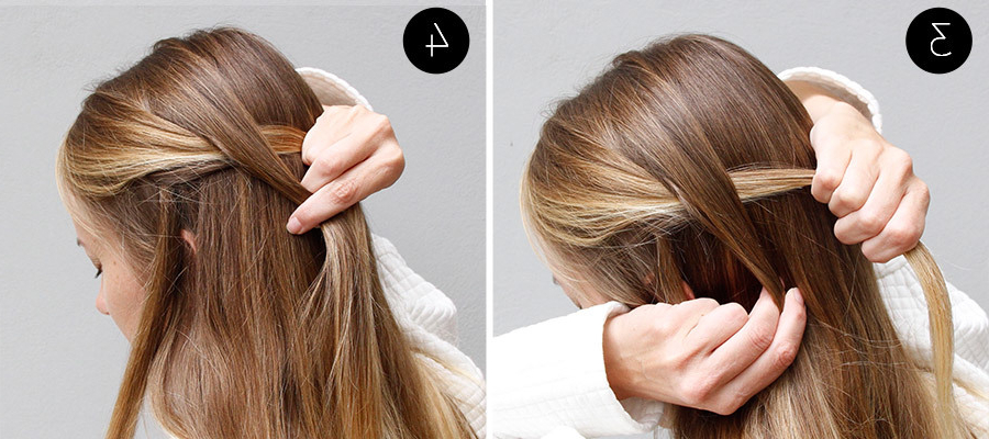 How To Recreate This Whimsical Waterfall & Flower Braid Updo | More With Diagonal Waterfall Braid In Half Up Bridal Hairstyles (View 21 of 25)
