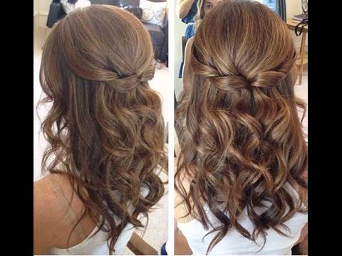Ideas How To Spice Up Your Half Bun ??????????????????????????????? Intended For Simplified Waterfall Braid Wedding Hairstyles (View 5 of 25)