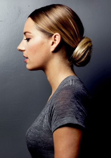If You're Not Big On The Ballerina Bun This Summer, You Can Still For Brushed Back Bun Bridal Hairstyles (View 14 of 25)