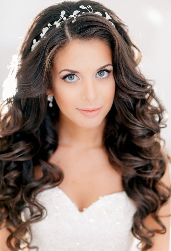 Image Result For Hair Down With Tiara Wedding   Hairstyle Ideas For Long Curly Bridal Hairstyles With A Tiara (View 5 of 25)