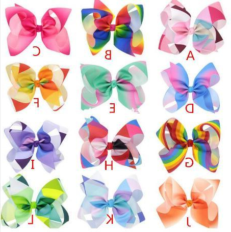 Jojo Siwa Large Rainbow Hair Bow Ponytail Hairstyle Personalize With Regard To Ponytail Bridal Hairstyles With Headband And Bow (View 17 of 25)