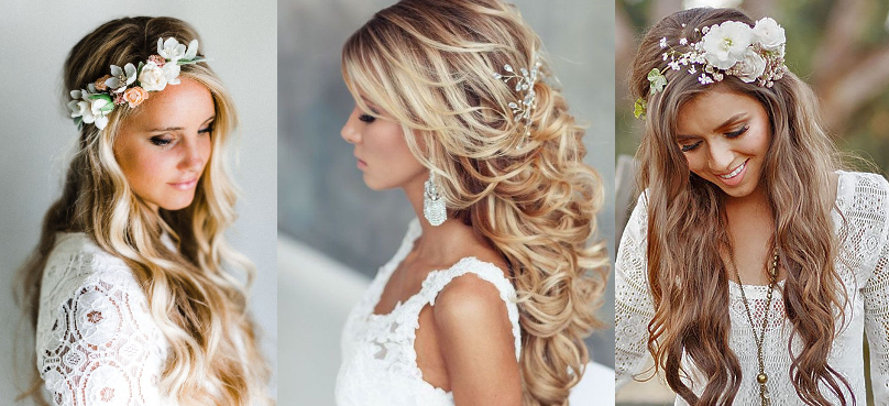 Killarney Weddings Bridal Hair Styles 2019 | Killarneys Bridal Stylists With Regard To Bohemian Curls Bridal Hairstyles With Floral Clip (View 13 of 25)
