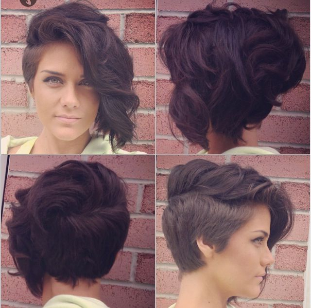Lady Mohawk, Faux Hawk, Shaved Sides, Curly Hair   Hair Goals For Short Hair Wedding Fauxhawk Hairstyles With Shaved Sides (View 17 of 25)