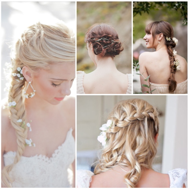 Lake Tahoe Wedding Inspiration   Braided Wedding Hairstyles With With Double Braid Bridal Hairstyles With Fresh Flowers (View 21 of 25)