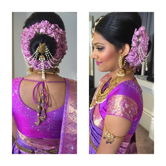 Latest Hairstyles That Suits All Types Of Sarees & Lehengas For Sleek Low Bun Rosy Outlook Wedding Updos (View 22 of 25)