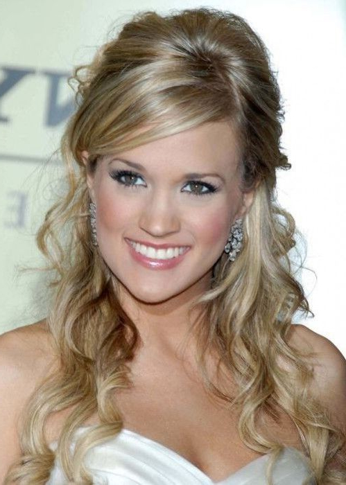 Layered Hairstyles For Long Hair With Side Fringe Throughout Curls Clipped To The Side Bridal Hairstyles (View 22 of 25)