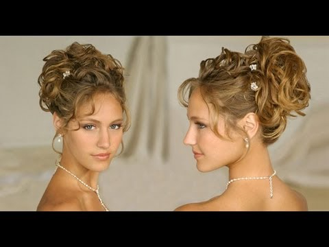 Long Hair Hairstyle:updos For Curly Hair Wedding/homecoming/prom Inside Large Bun Wedding Hairstyles With Messy Curls (View 18 of 25)