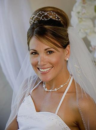 Long Wedding Hairstyles With Veils And Tiaras – Knot For Life For Classic Bridal Hairstyles With Veil And Tiara (View 4 of 25)