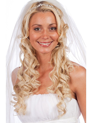 Long Wedding Hairstyles With Veils And Tiaras – Knot For Life Throughout Long Curly Bridal Hairstyles With A Tiara (View 16 of 25)