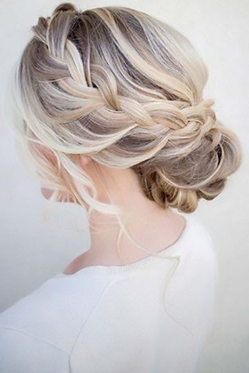 Loose Side Braids, Bun With Soft Curls | Style? My Hairxoxo For Loose Updo Wedding Hairstyles With Whipped Curls (View 3 of 25)