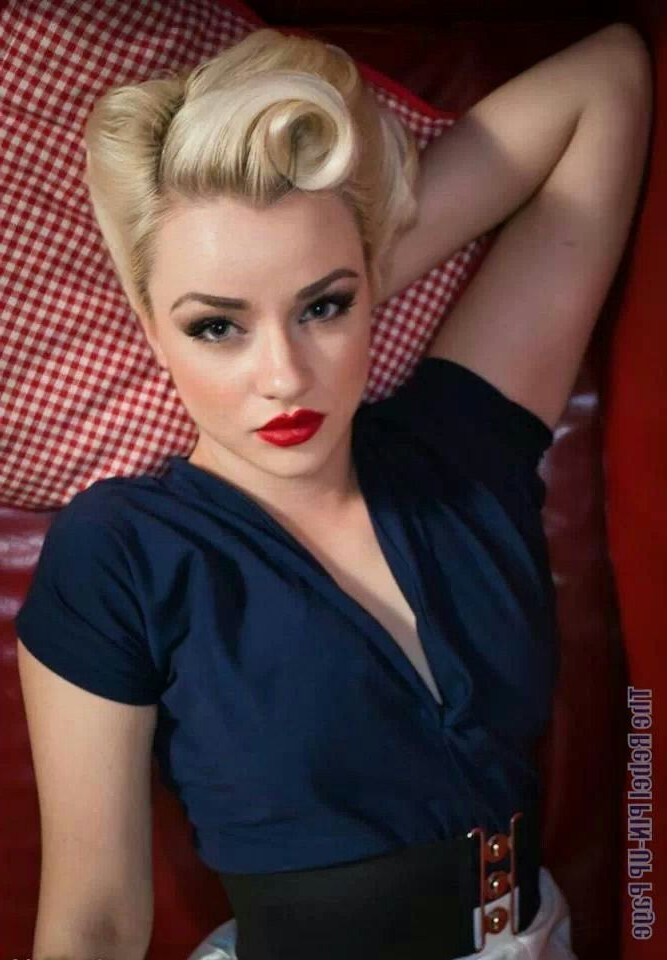 Los Angeles Vintage Pinup Makeup Artist >> Angela Tam | Victory Inside Pin Up Curl Hairstyles For Bridal Hair (View 14 of 25)