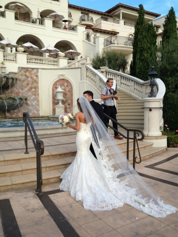 Love The Idea Of A Long Veil Instead Of A Long Train On The Dress Within Wedding Hairstyles With Extra Long Veil With A Train (View 2 of 25)