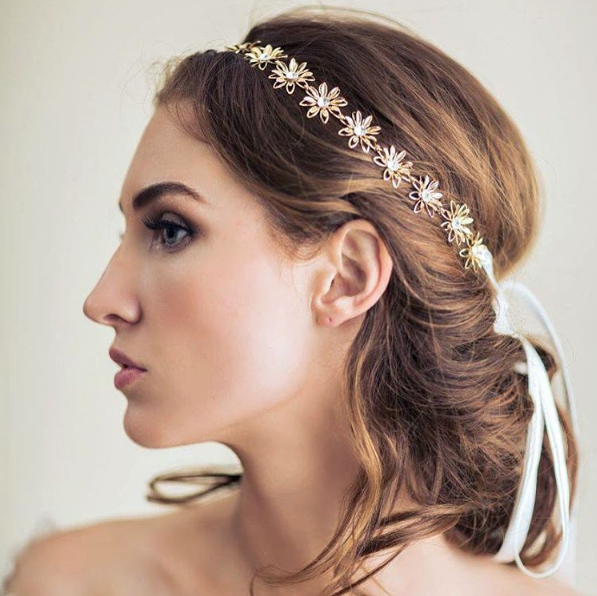 Love This Soft Wedding Updo And Bridal Headband – So Lovely! ~ We Within Soft Wedding Updos With Headband (View 7 of 25)