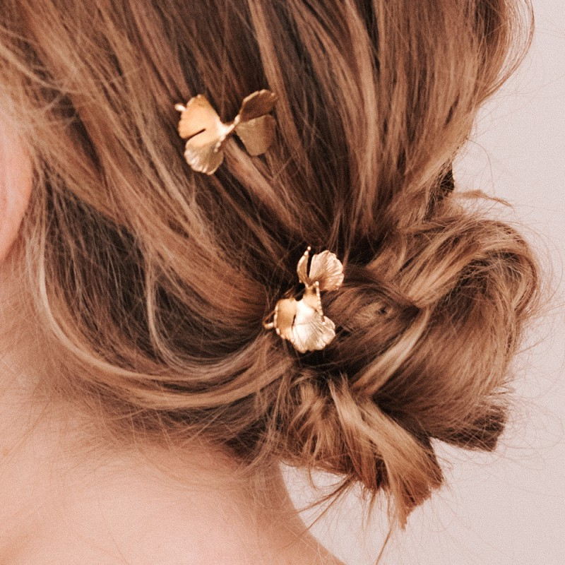 Maison Sabben Party & Bridal Floral Barrettes With Minimal Moss Regarding Sleek Bridal Hairstyles With Floral Barrette (View 13 of 25)