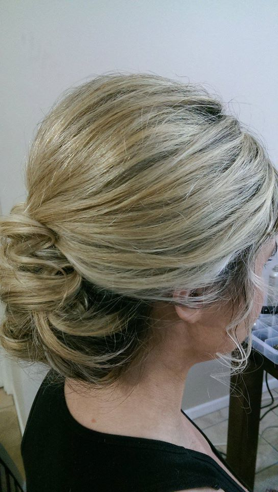 Medium Length Creamy Blonde #hair Height, Volume, Soft Around Throughout Blonde Polished Updos Hairstyles For Wedding (View 12 of 25)