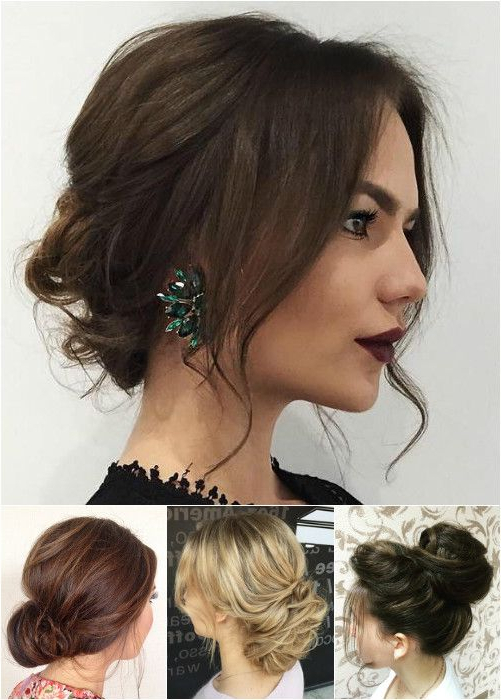 Medium Length Hair In A Messy Bun – Securelog For Messy Bun Wedding Hairstyles For Shorter Hair (View 11 of 25)