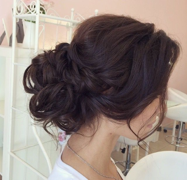 Messy Bun, Low Bun, Chignon, Wedding Updo, Wedding Hairstyles, Soft Within Messy Buns Updo Bridal Hairstyles (View 7 of 25)