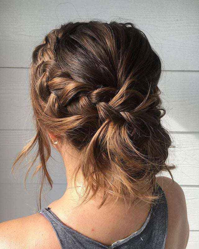 Messy Bun Wedding Hair | Popsugar Beauty Australia Intended For Messy Buns Updo Bridal Hairstyles (View 14 of 25)