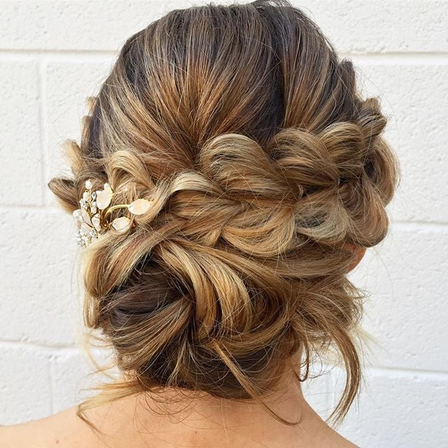 Messy Bun Wedding Hair | Popsugar Beauty Intended For Messy Buns Updo Bridal Hairstyles (View 3 of 25)