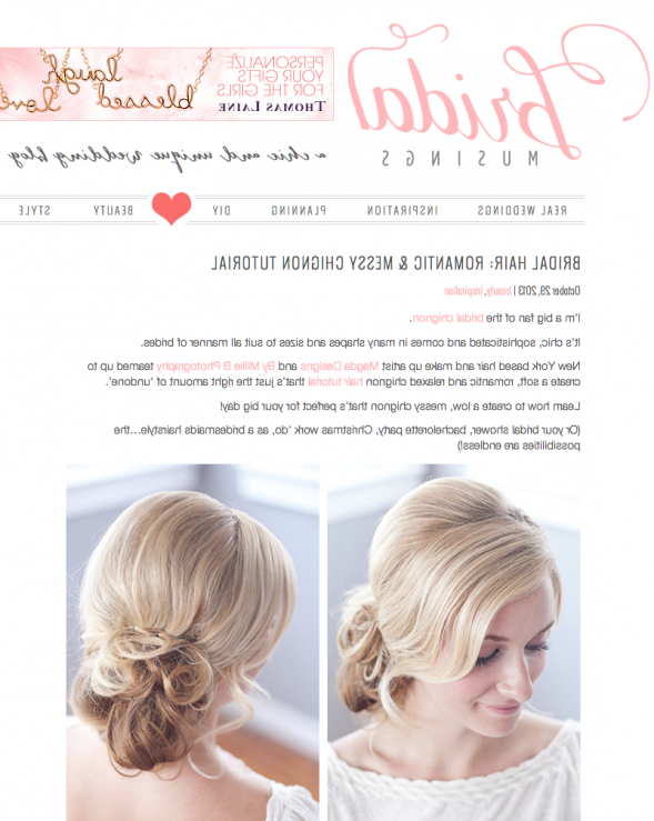 Messy Chignon Hair Tutorial/ Photosmillie B Photography Featured Inside Chic And Sophisticated Chignon Hairstyles For Wedding (View 24 of 25)