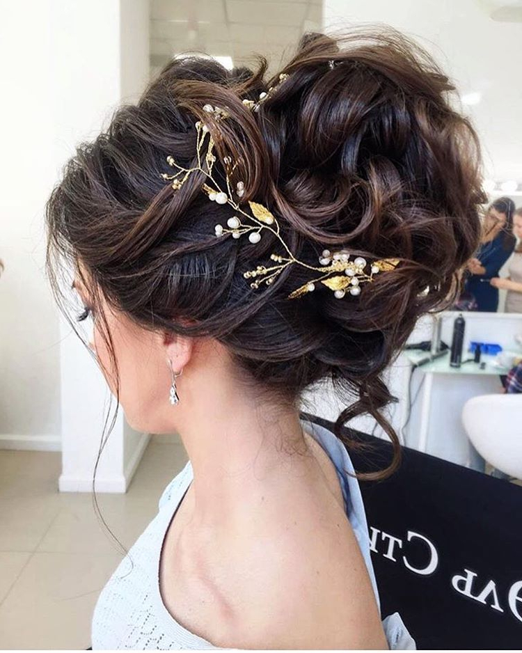 Messy Hair Updo Hairstyles | Sassy Daily Updo For Loose Updo Wedding Hairstyles With Whipped Curls (View 24 of 25)