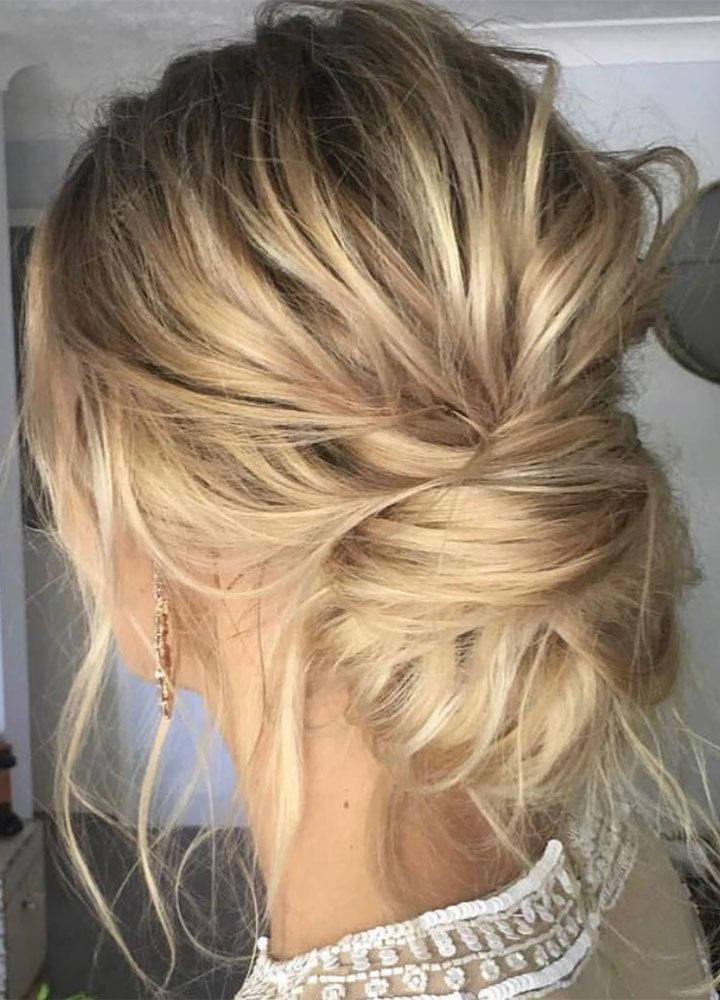 Messy Updo Wedding Hair Inspiration | Hair Styles | Hair Styles For Brushed Back Bun Bridal Hairstyles (View 25 of 25)