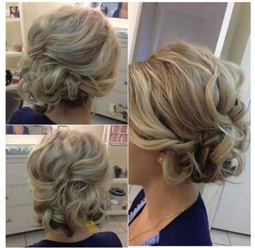Most Attractive Short Hairdos For Parties | Hairstyles | Pinterest Intended For Low Messy Chignon Bridal Hairstyles For Short Hair (View 4 of 25)