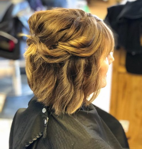 Mother Of The Bride Hairstyles: 24 Elegant Looks For 2019 Intended For Messy Woven Updo Hairstyles For Mother Of The Bride (View 21 of 25)