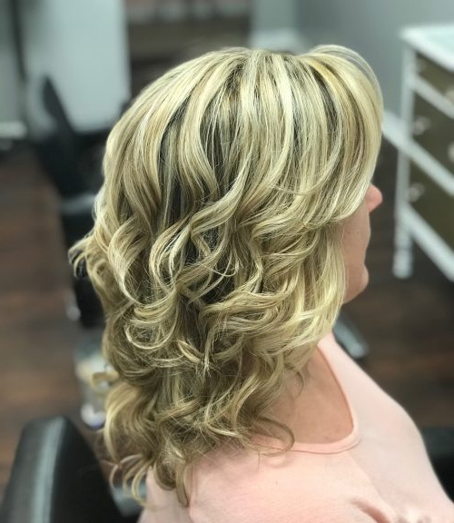 Mother Of The Bride Hairstyles: 24 Elegant Looks For 2019 With Regard To Curly Blonde Updo Hairstyles For Mother Of The Bride (View 7 of 25)
