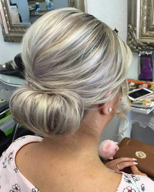 Mother Of The Bride Hairstyles: 24 Elegant Looks For 2019 With Regard To Low Messy Bun Hairstyles For Mother Of The Bride (View 4 of 25)