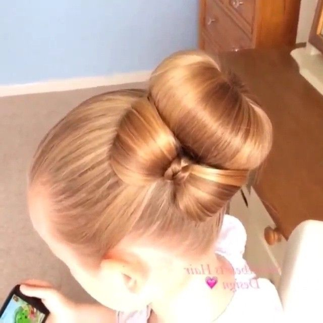 Obsessed!!! A Bun With A Side Bow ? @sweethearts Hair Design In Wedding Updos With Bow Design (View 12 of 25)