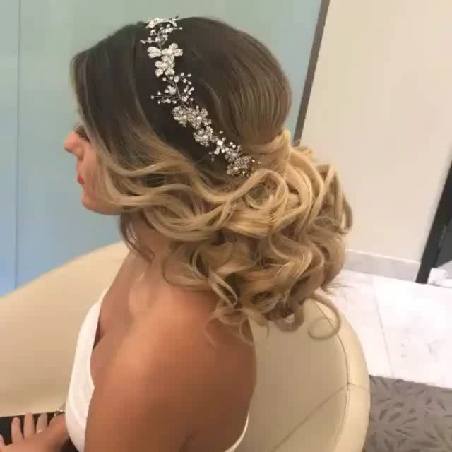 Ombre Wedding Updo!! Love Her Wave Hairstyle Framed With A for Classic Twists And Waves Bridal Hairstyles
