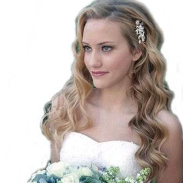 One Side Pinned Back | Wedding | Pinterest | Wedding Hairstyles in Pinned Back Tousled Waves Bridal Hairstyles