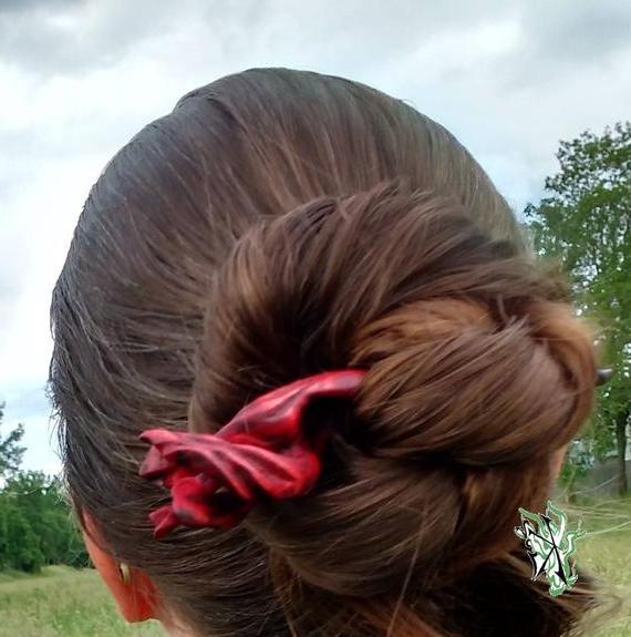 Ooak Hair Fork Spiral Soul Tortur Gloomy Reds Art Rugged | Etsy for Spiraled Wedding Updos