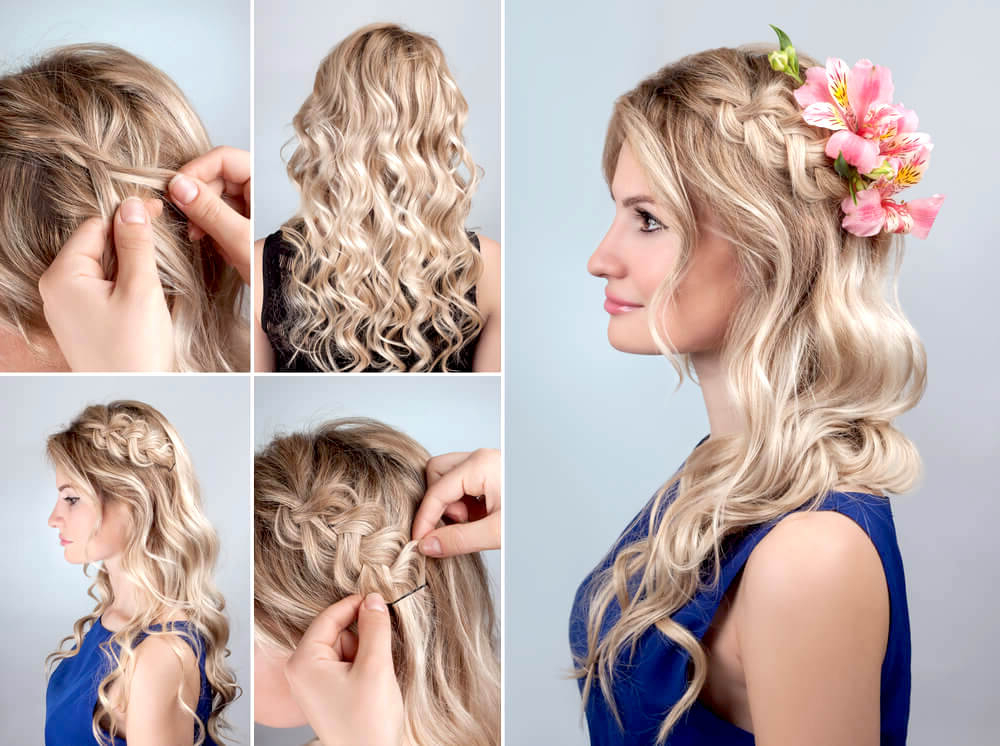 Our Favorite Bridesmaid Hairstyles For Long Hair – Herstyler Inside Braided Wedding Hairstyles With Subtle Waves (View 13 of 25)