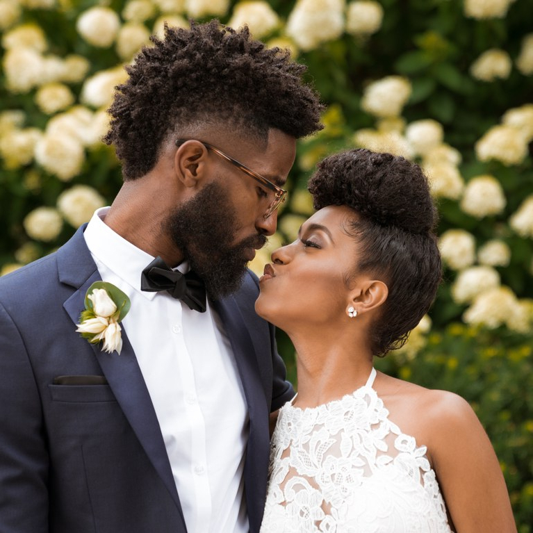 Our Favorite Natural Hairstyles From Real Weddings | Brides With Romantic Bridal Hairstyles For Natural Hair (View 20 of 25)
