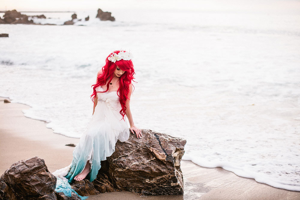 Our Perfect Little Mermaid Themed Wedding – Articles – Easy Weddings Regarding Mermaid Inspired Hairstyles For Wedding (View 21 of 25)