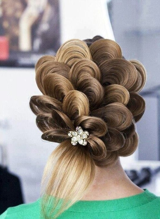 Photo Only! Create Spiraling Dutch Braid, Tug Hair Loops Out Of One Within Spiraled Wedding Updos (View 6 of 25)