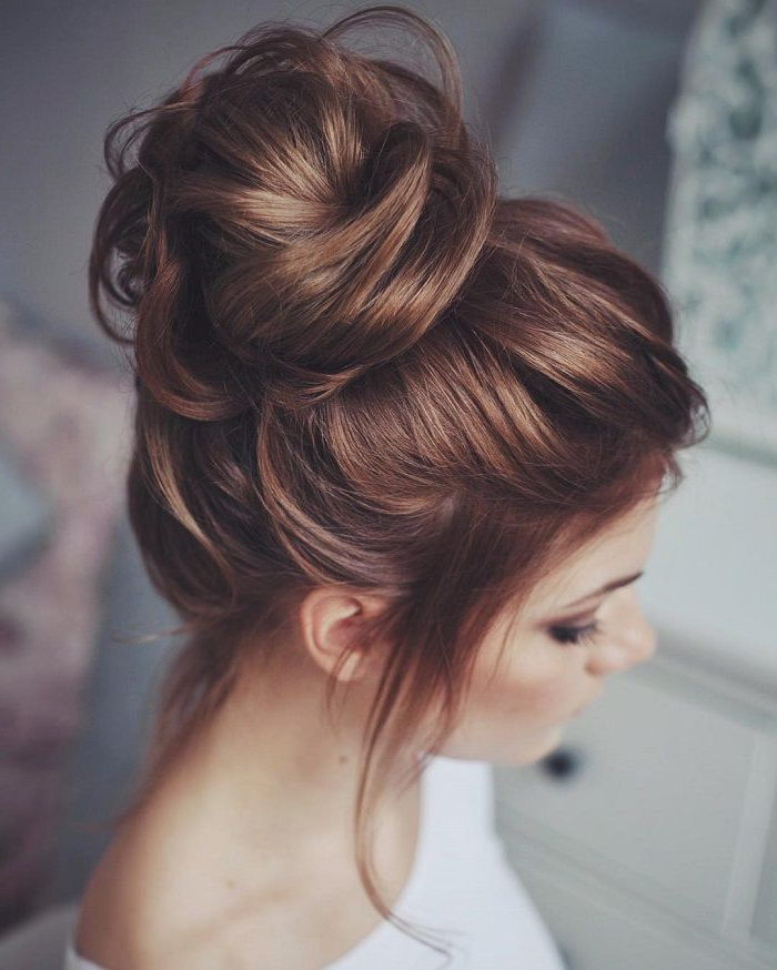 Pinann Best On Bridal Styles | Pinterest | Hair Styles, Hair And Intended For Messy Buns Updo Bridal Hairstyles (View 4 of 25)