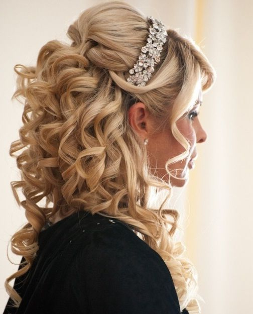 Pincorrie Miller On Golden Locks | Pinterest | Wedding With Regard To Golden Half Up Half Down Curls Bridal Hairstyles (View 11 of 25)