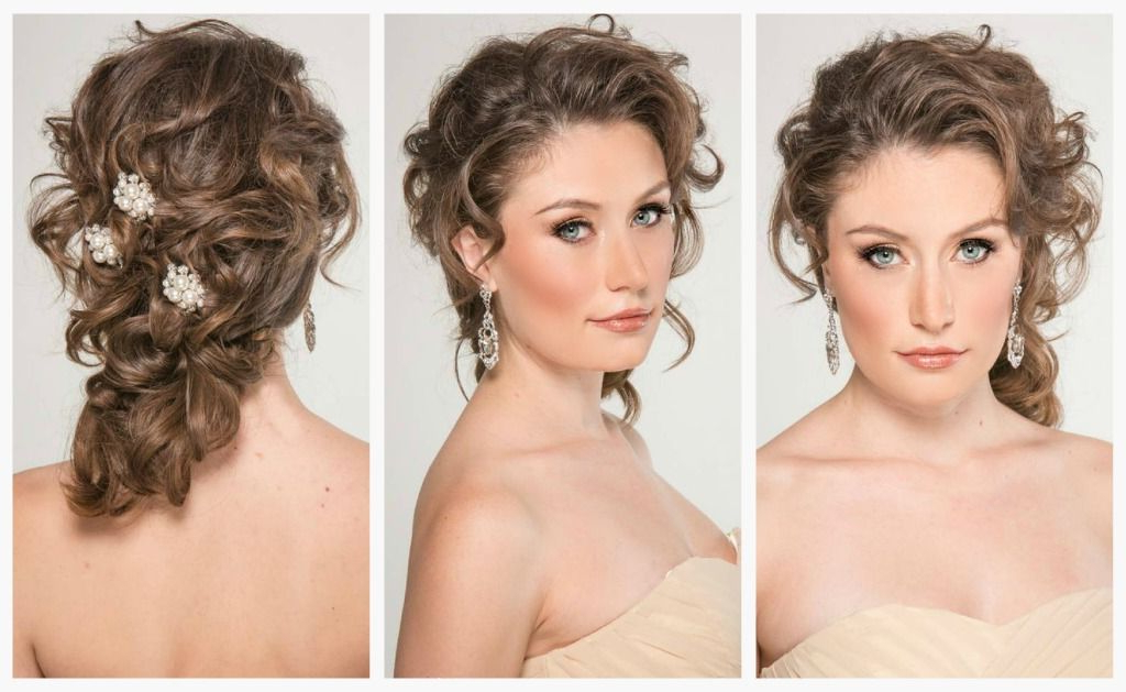 Pinwendy Ann Maques On Ione | Wedding Hairstyles, Wedding Updo Throughout Curled Side Updo Hairstyles With Hair Jewelry (View 14 of 25)