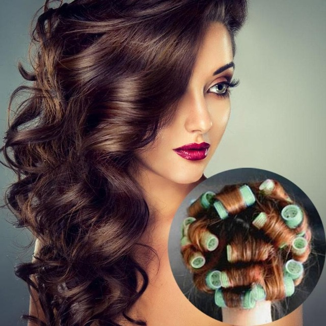 Plastic Hair Curler Roller Curl Hair Style Magic Salon Hair Curlers Intended For Large Hair Rollers Bridal Hairstyles (View 18 of 25)