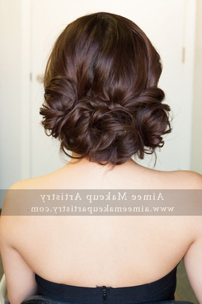 Pretty Asian Woven/loose Low Bun | Hairstylesaimee + Team With Regard To Woven Updos With Tendrils For Wedding (View 10 of 25)