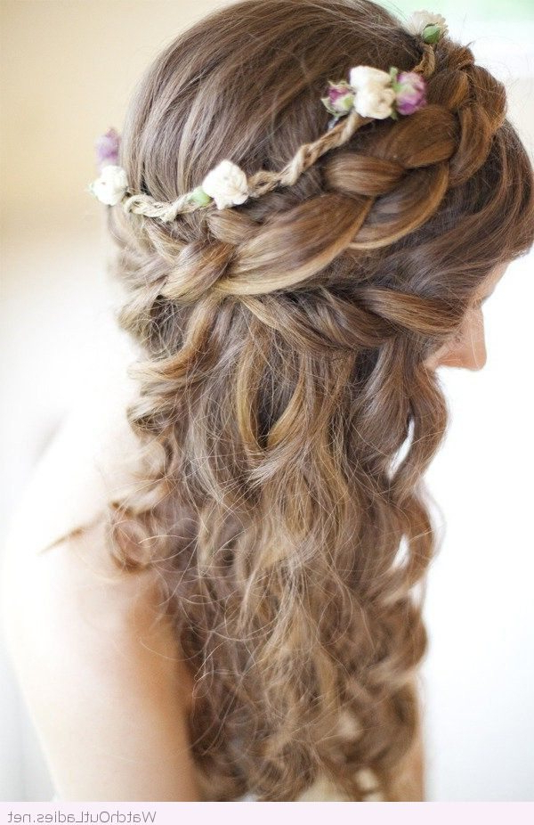 Pretty Long Hair Half Updos With Curls – Watch Out Ladies Throughout Twists And Curls In Bridal Half Up Bridal Hairstyles (View 25 of 25)