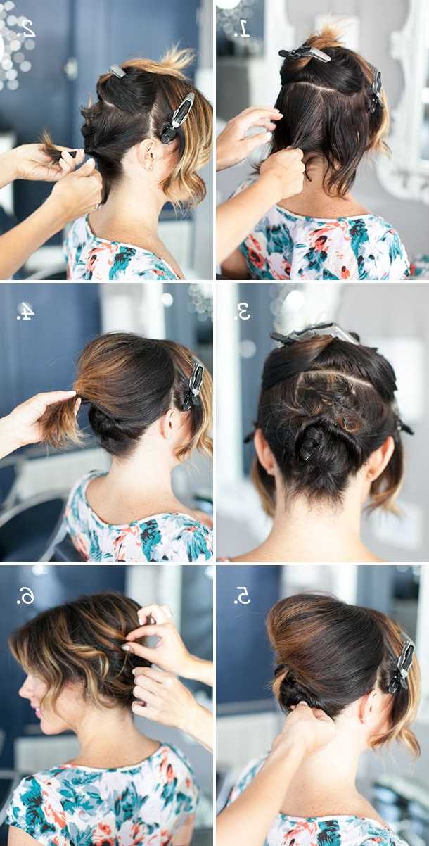 Pretty Simple :: Updo For Short Hair | Hair | Short Hair Styles Intended For Simplified Waterfall Braid Wedding Hairstyles (View 18 of 25)