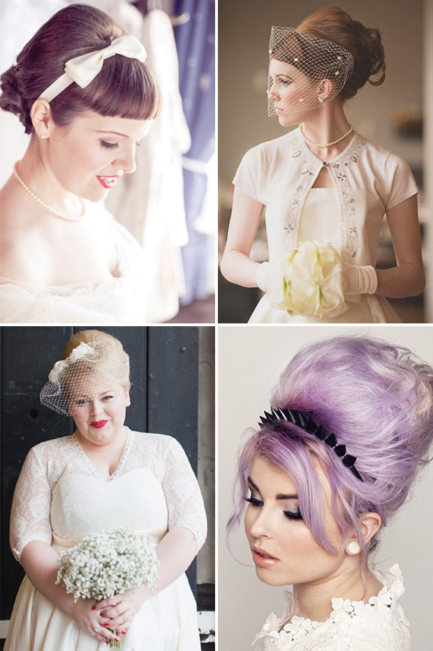 Retro Chic – 28 Vintage Wedding Hair Ideas | Onefabday Inside Retro Glam Wedding Hairstyles (View 20 of 25)