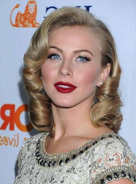 Retro Glam Curls For Julianne Hough Hairstyles | Hair | Hair, Hair For Retro Glam Wedding Hairstyles (View 13 of 25)