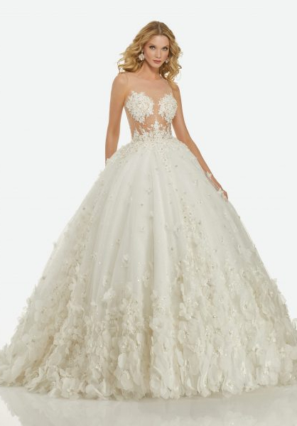 Romantic Ball Gown Wedding Dress | Kleinfeld Bridal Pertaining To Sleek And Big Princess Ball Gown Updos For Brides (View 18 of 25)