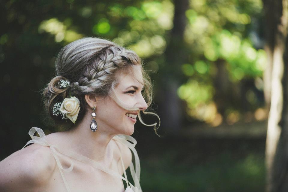 Romantic Braided Wedding Hairstyle With Curly Tendrils Pertaining To Curled Bridal Hairstyles With Tendrils (View 12 of 25)