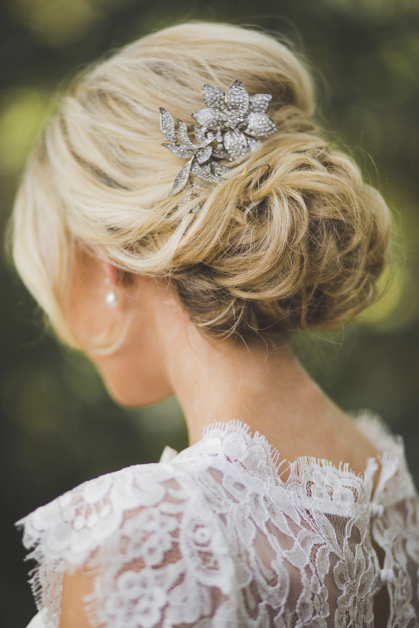 Romantic Messy Mass Of Loose Curls Wedding Updo With Antique Hair Intended For Loose Wedding Updos For Short Hair (View 21 of 25)